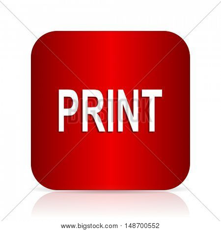 print red square modern design icon