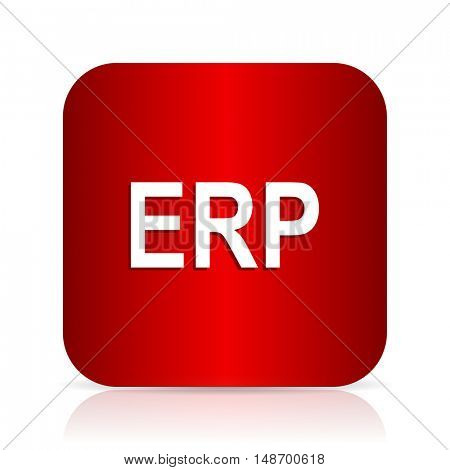 erp red square modern design icon