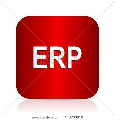 erp red square modern design icon