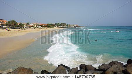 coastal region of santa maria on sal island