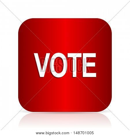 vote red square modern design icon