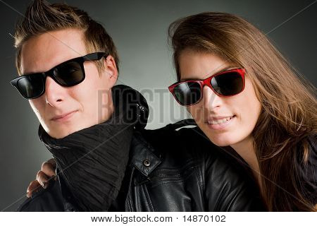 Wild Couple With Sunglasses