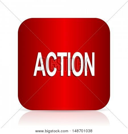 action red square modern design icon