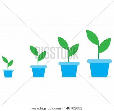 Growth start up. Business growth. Starting a business and new business. Vector illustration