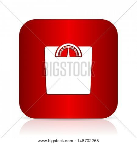 weight red square modern design icon