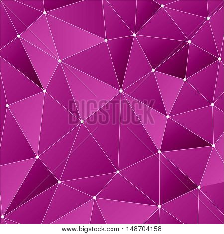 Structure molecule and communication Dna, atom, neurons. Science concept for your design. Connected lines with dots. Medical, technology, chemistry, science background. Vector illustration pink