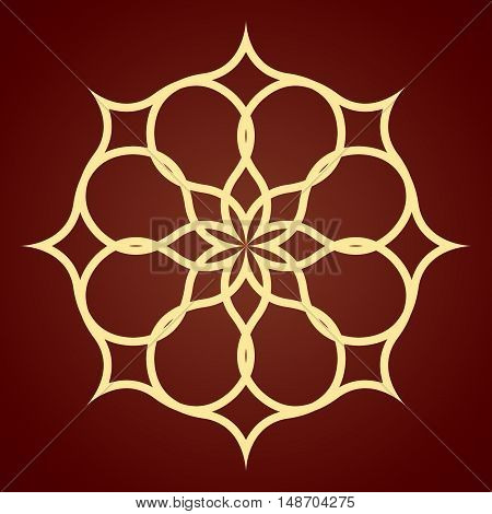 Abstract pattern illustration in arabian style. eps 10