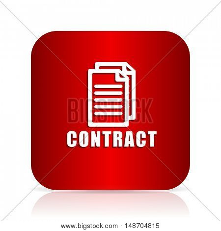 contract red square modern design icon