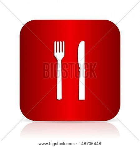 eat red square modern design icon