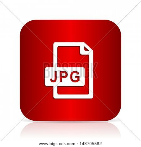 jpg file red square modern design icon