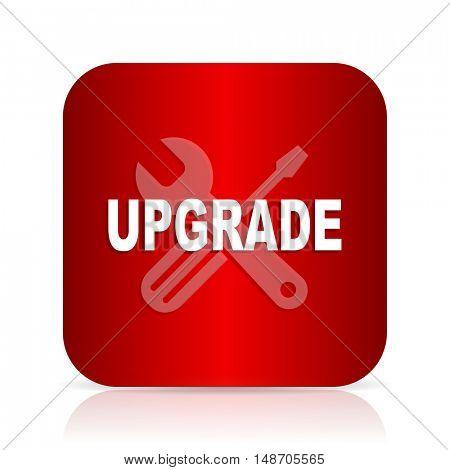 upgrade red square modern design icon