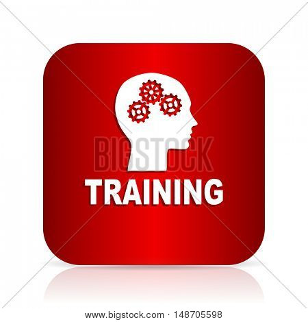 training red square modern design icon