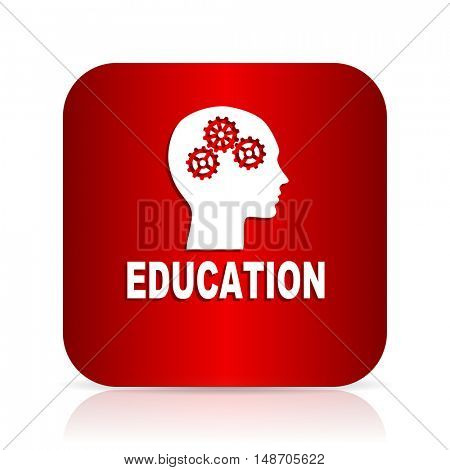 education red square modern design icon