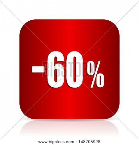 60 percent sale retail red square modern design icon