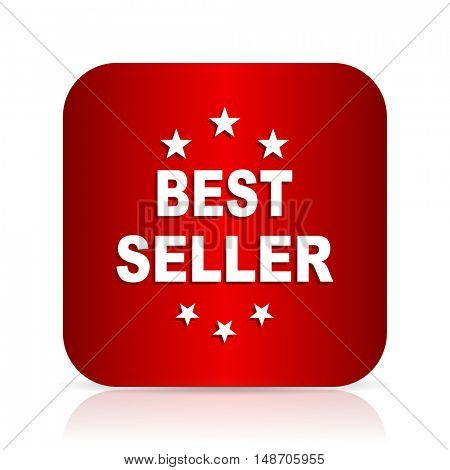 best seller red square modern design icon