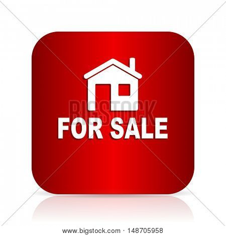 for sale red square modern design icon