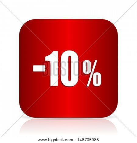 10 percent sale retail red square modern design icon
