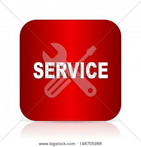 service red square modern design icon