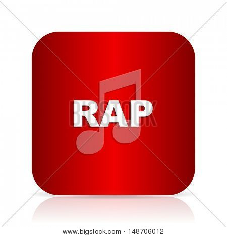 rap music red square modern design icon