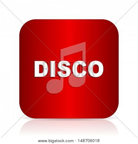 disco music red square modern design icon