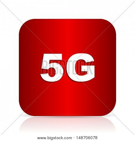 5g red square modern design icon
