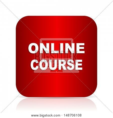 online course red square modern design icon