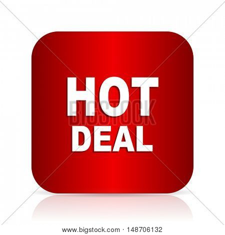 hot deal red square modern design icon