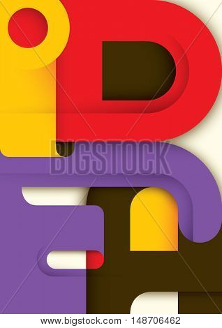 Conceptual poster in color with typography. Vector illustration.