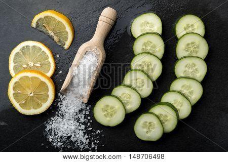 Salt Cucumber And Lemon