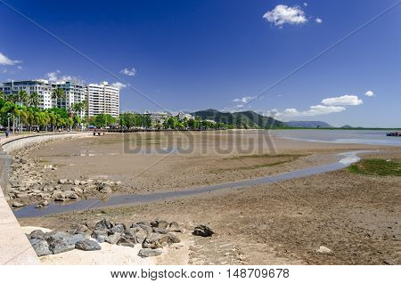 The promenade of Cairns in the tropical north of Queensland.