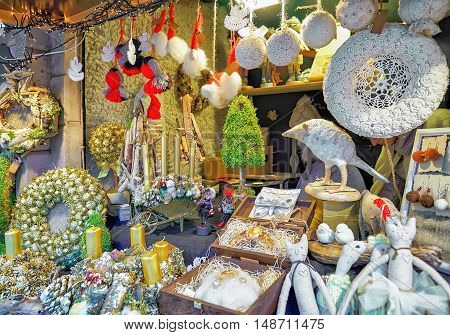Handmade Souvenirs And Goods At Riga Christmas Market