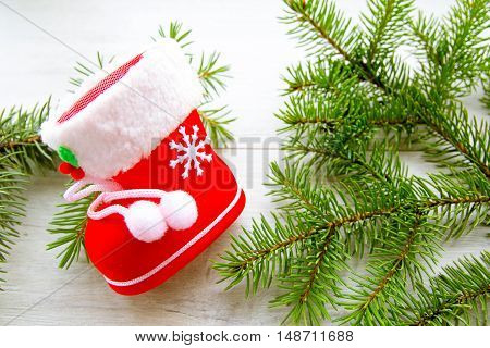 new year, Christmas background for greeting cards on the tree