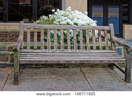 Bench In The George Washington University In Washington Dc