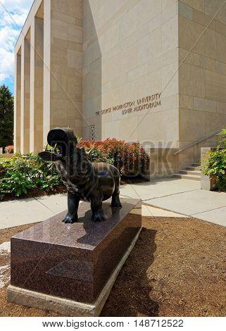 Hippopotamus Statue Near The Lisner Auditorium