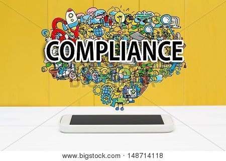 Compliance Concept With Smartphone