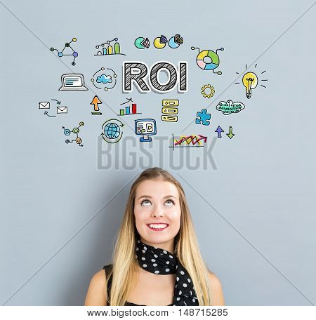 Roi Concept With Happy Young Woman