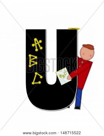 The letter U in alphabet set