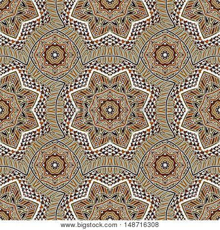 geometric  oriental medallion vector seamless pattern. Flourish ornamental arabesque design