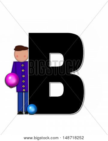 The letter B in the alphabet set