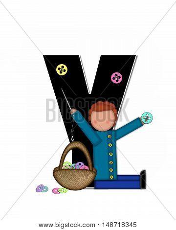 Alphabet Children Sewing Y