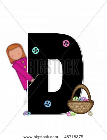Alphabet Children Sewing D