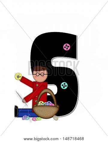 The letter S in the alphabet set