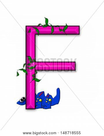 The letter F in the alphabet set