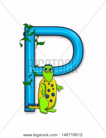 The letter P in the alphabet set