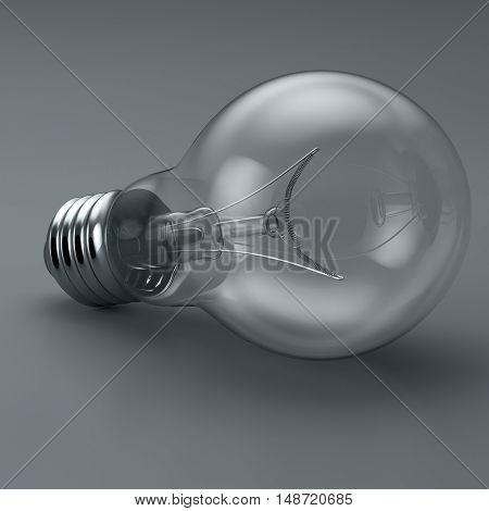 Light bulb. 3D illustration