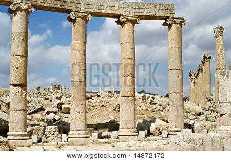 Ancient Jerash Ruins Jordan