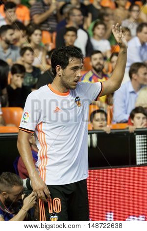 VALENCIA, SPAIN - SEPTEMBER 22nd: Dani Parejo during Spanish soccer league match between Valencia CF and Deportivo Alaves at Mestalla Stadium on September 22, 2016 in Valencia, Spain