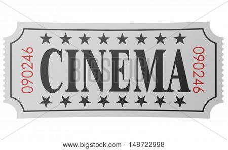 Isolated Ticket With Cinema Word