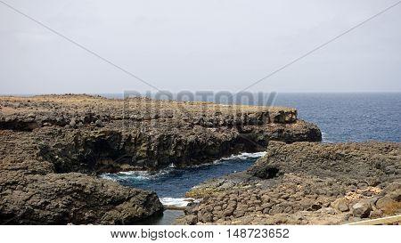 blue hole buracona on cape verden on sal island