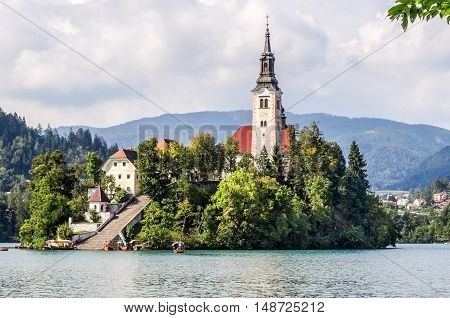 Church of the Assumption of Mary on the Island in Lake Bled
